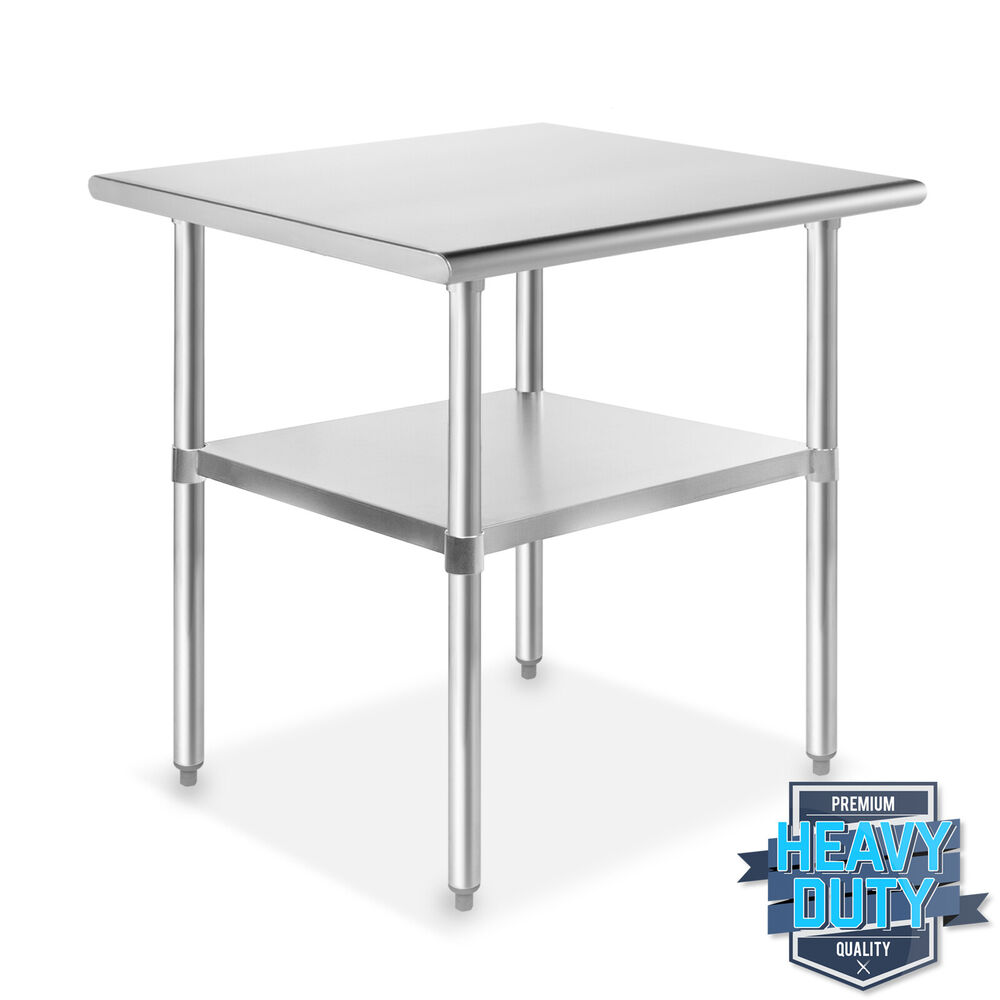 Stainless steel commercial kitchen work food prep table 24 x 30 ebay - Steel kitchen tables ...