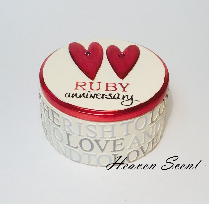 Ruby Wedding Gift Box : 40th Ruby Wedding Anniversary Trinket Box Great Gift Present Ideas For ...