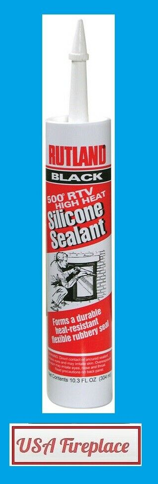 High Heat Caulking : Rutland degree high heat black silicone sealant