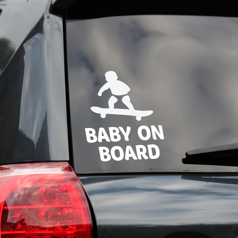 Baby On Board Car Window Sticker Car Sign Funny