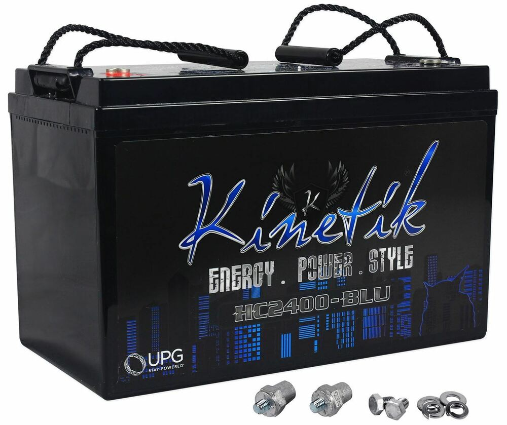 kinetik hc2400 blu 2400 watt car battery power cell audio system 12 volt hc2400 ebay. Black Bedroom Furniture Sets. Home Design Ideas