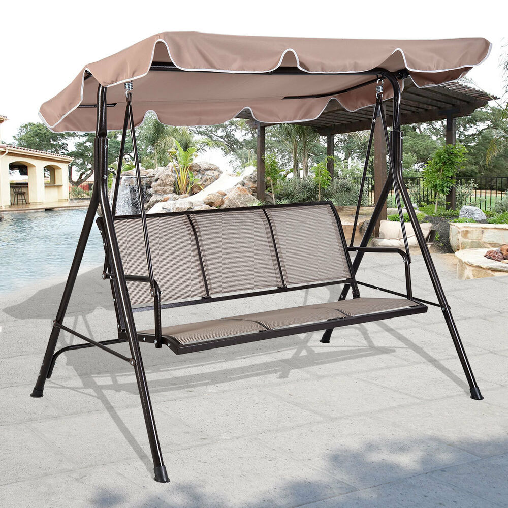 Luxury 3 Seater Swinging Garden Hammock Swing Chair