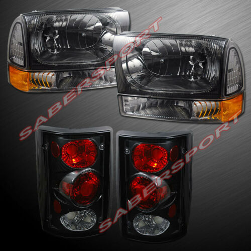set-of-smoke-headlights-corner-black-taillights-for-20002004-ford-excursion