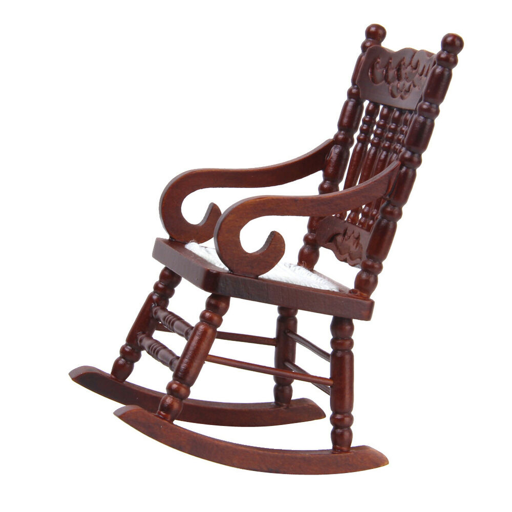 Vintage Brown Wooden Rocker Rocking Chair For 1 12