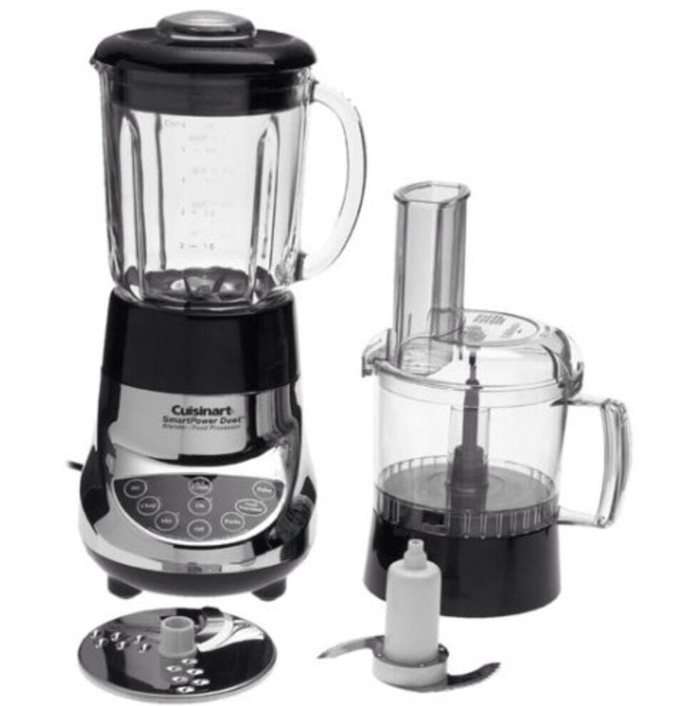 cuisinart duet blender and food processor bfp 703 black and crome ebay. Black Bedroom Furniture Sets. Home Design Ideas