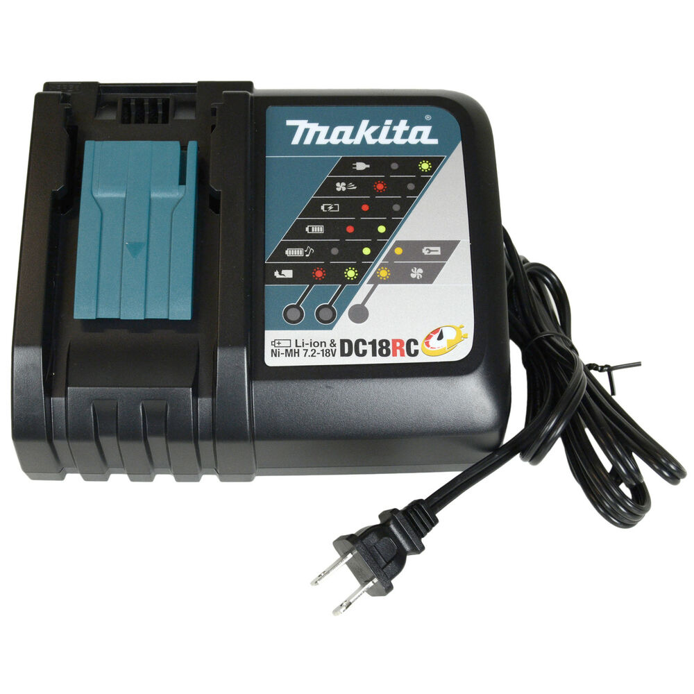 Makita dc18rc 18v fast lithium ion battery charger new - Batterie makita 18v ...