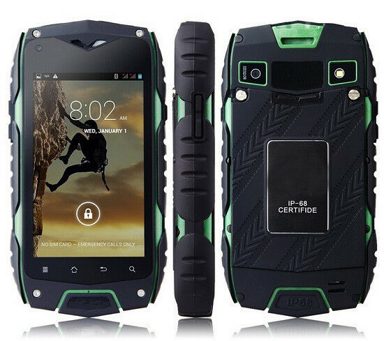 Jeep Z6 Unlocked Smartphone Ip68 Waterproof 4gb Wifi Gps