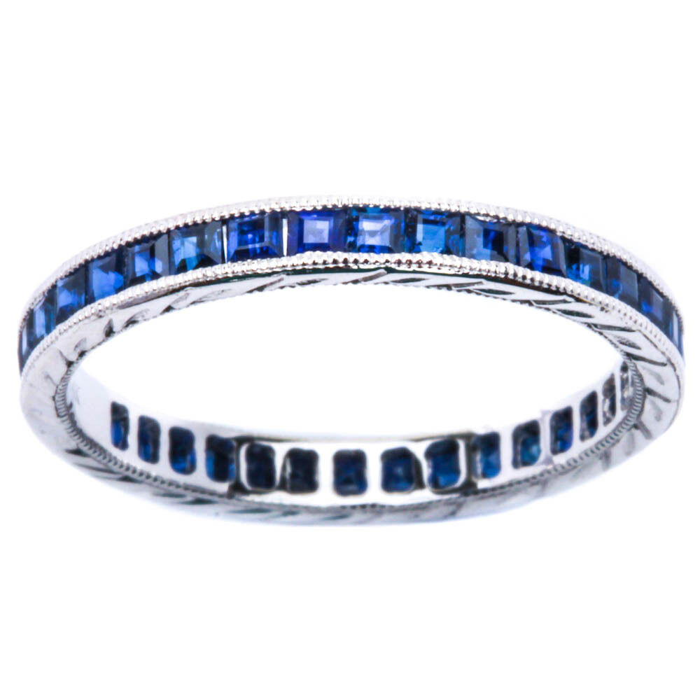 Sapphire And Diamond Stackable Ring