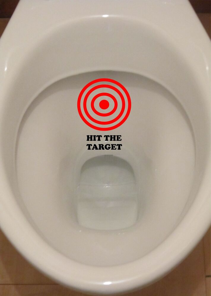 R278 Hit The Target Aim Toilet Funny Sticker Bathroom