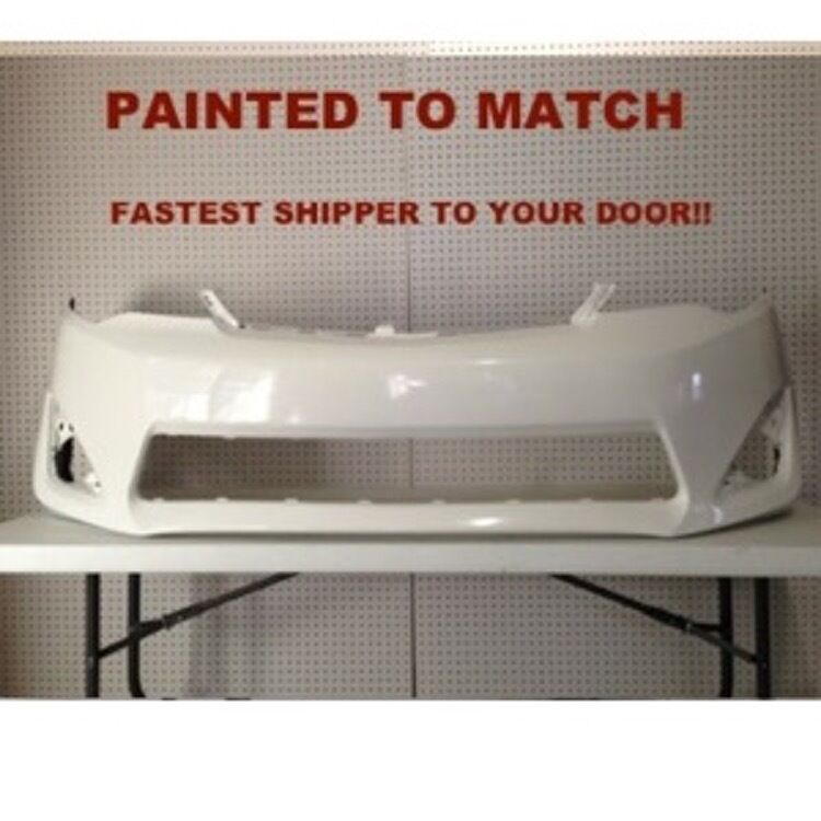 fits 2012 2013 2014 toyota camry front bumper painted to. Black Bedroom Furniture Sets. Home Design Ideas