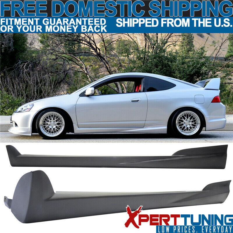 Fits Acura RSX 02-06 PU Mugen Style Unpainted Side Skirt