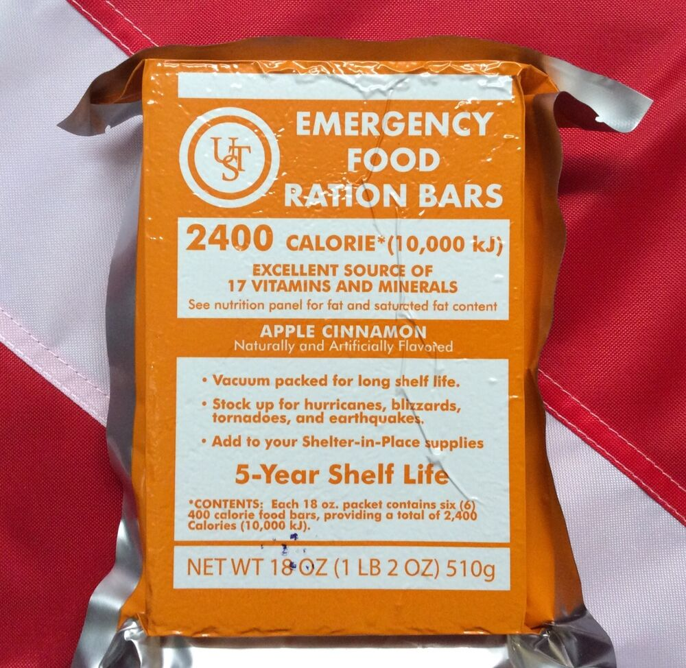 Emergency food ration bar survival disaster camping for Food bar borca