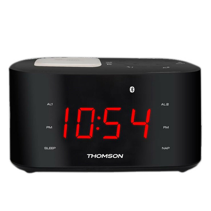 new thomson bluetooth digital clock radio btc 2138 usb charging night light fm ebay. Black Bedroom Furniture Sets. Home Design Ideas