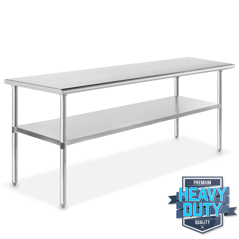 Stainless steel commercial kitchen work food prep table 24 x 72 ebay - Steel kitchen tables ...