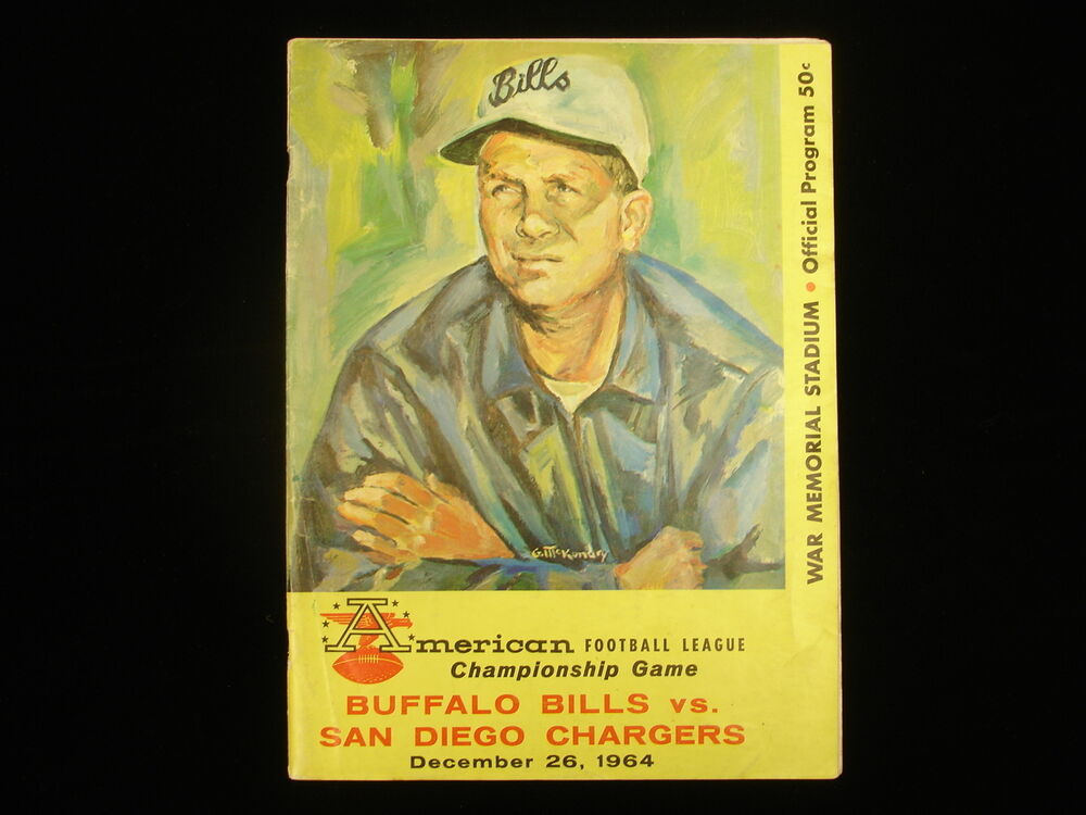 1964 Afl Championship San Diego Chargers Vs Buffalo Bills