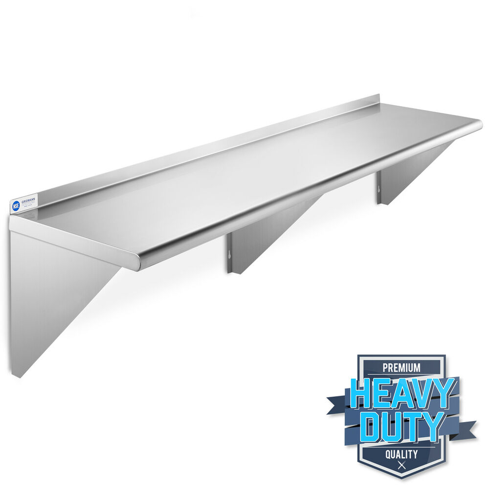 Stainless Steel Commercial Kitchen Wall Shelf Restaurant
