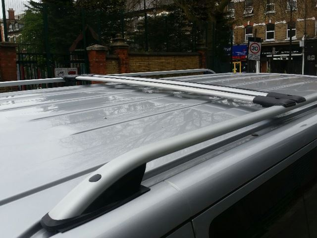 Vw T5 T6 Transporter Roof Rail Bars Racks Set Cross Bars