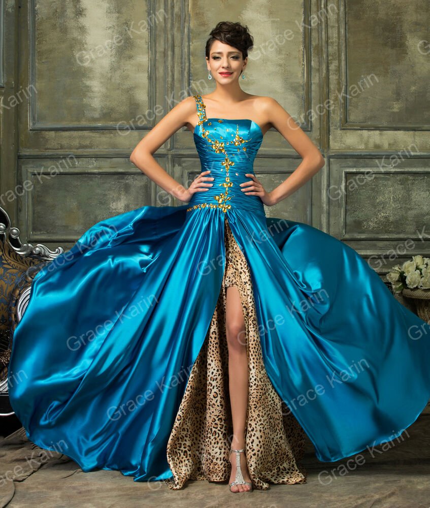 Luxury Long Prom Dresses Formal Evening Party Quinceanera Masquerade ...