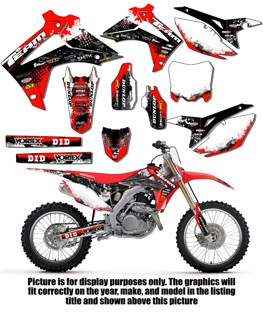 2006 Honda Crf450r: 2002-2004 HONDA CRF 450R GRAPHICS KIT DECALS DECO STICKERS