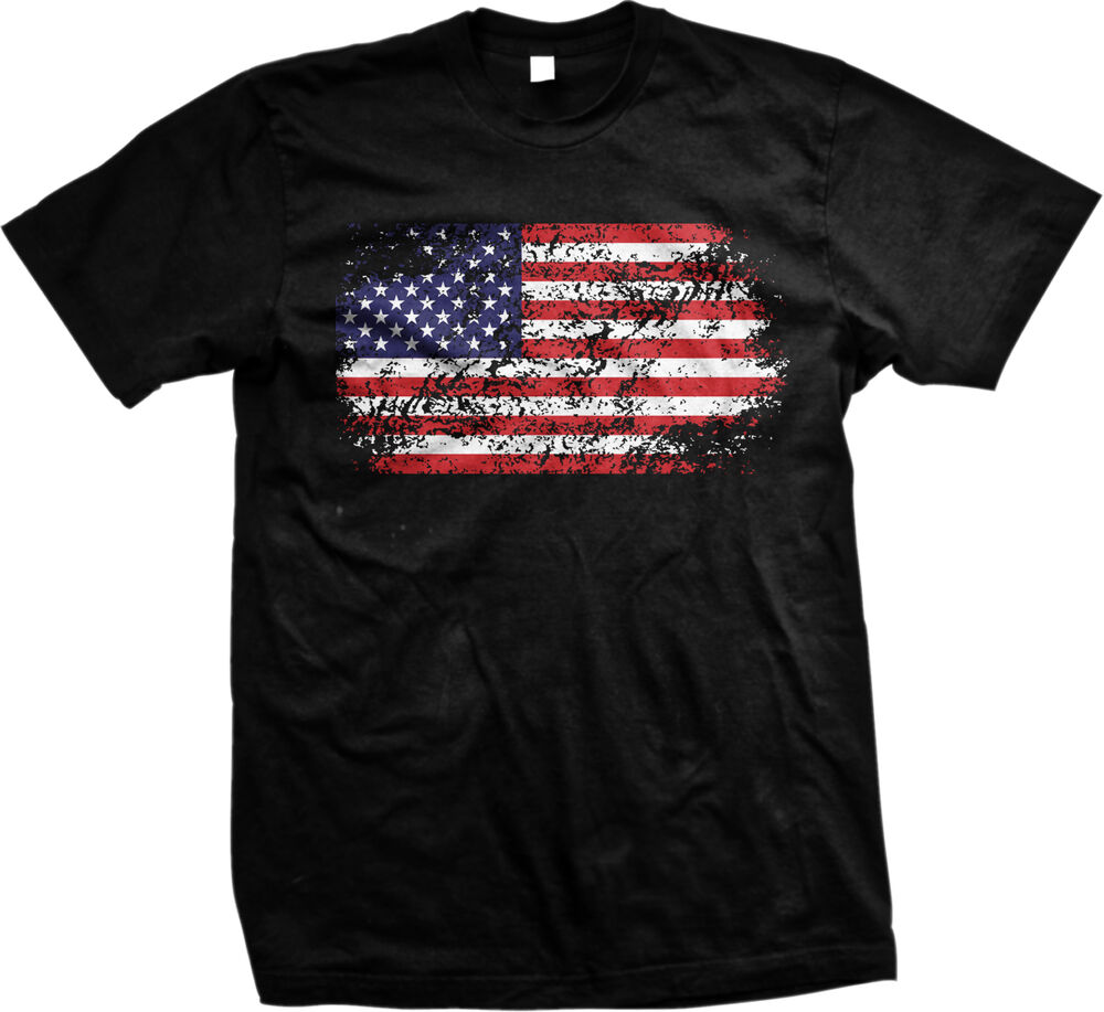 Distressed American Flag Freedom Usa 4th Of July Mens T