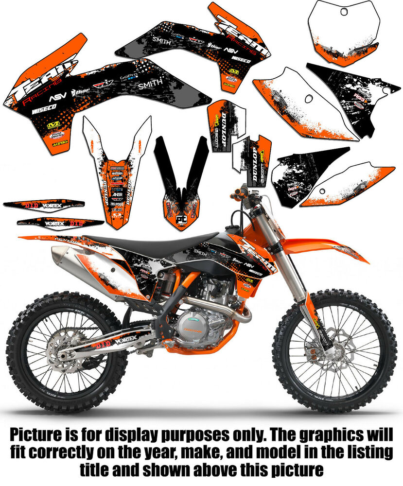 2006 2007 ktm xc 200 250 450 525 graphics set deco decals mx stickers ebay. Black Bedroom Furniture Sets. Home Design Ideas