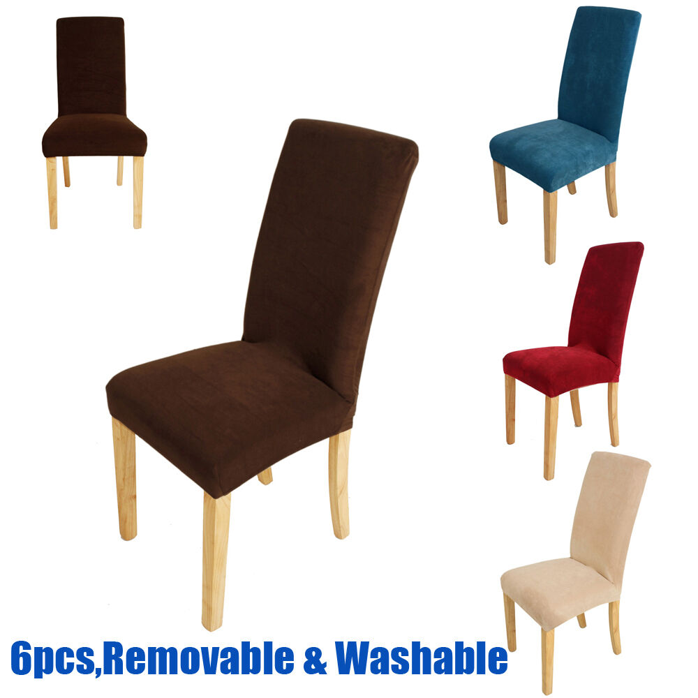 6x super fit dining room chair covers stretch seat for 6 dining room chair covers