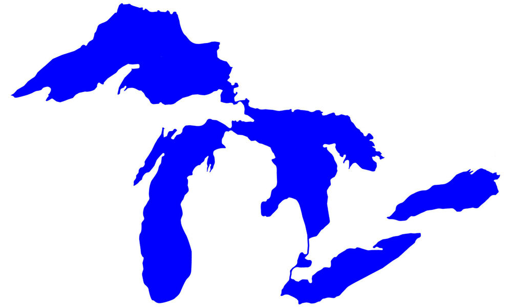 great lakes michigan great lakes silhouette michigan outline water rh ebay com