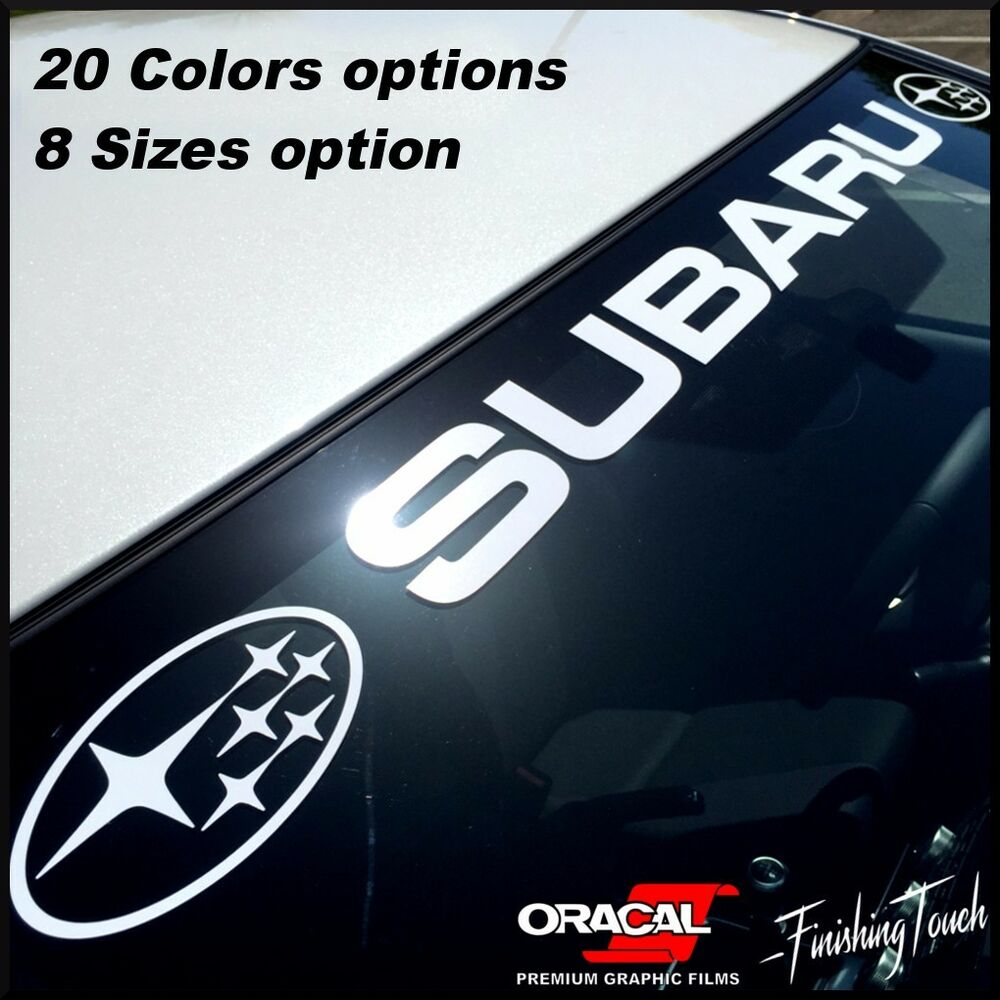 Vinyl Window Decals : Subaru windshield window banner vinyl decal sticker