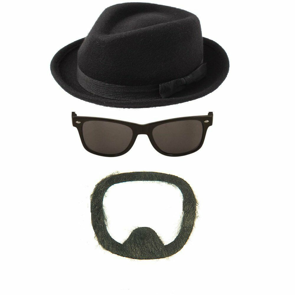 BREAKING BAD FANCY DRESS HAT SUNGLASSES BEARD WALTER WHITE ...