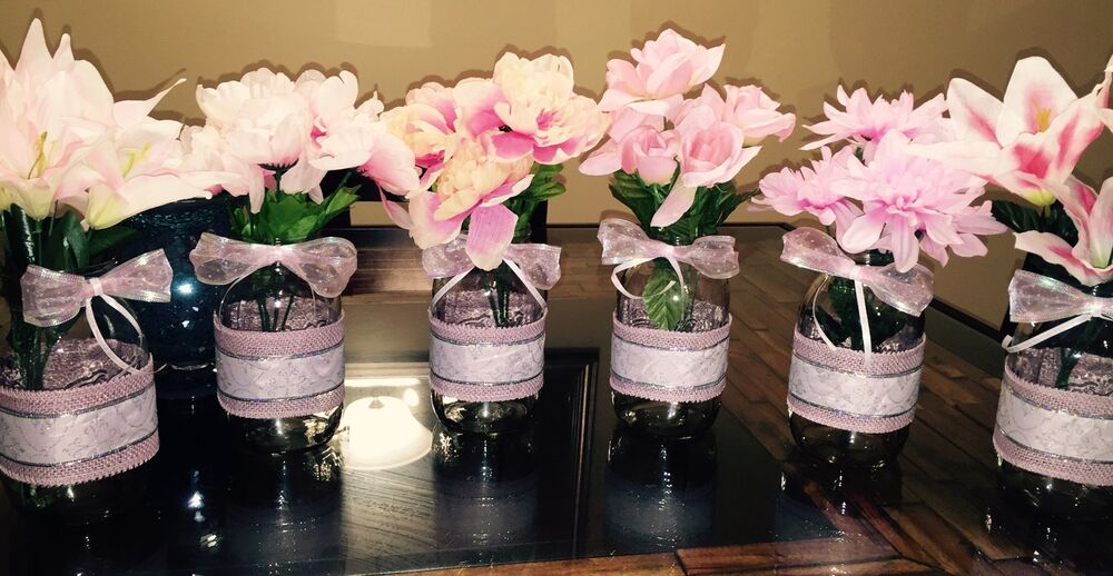 size country rustic baby shower mason jar centerpieces 32oz ebay