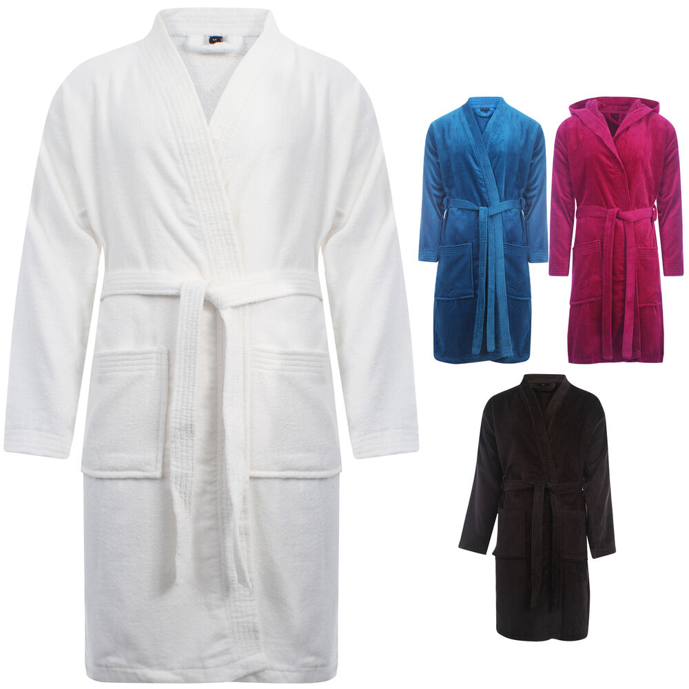 new unisex mens ladies womens luxury stylish terry towel bath robe gressing gown ebay. Black Bedroom Furniture Sets. Home Design Ideas