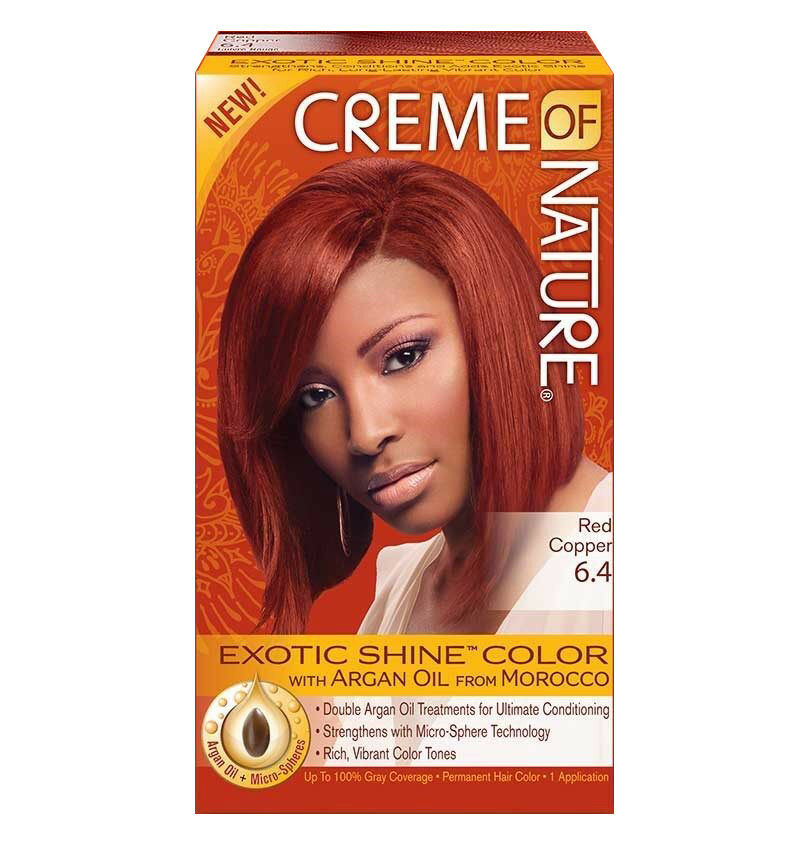 Creme Of Nature Argan Oil Exotic Shine Permanent Hair Color Dye Red