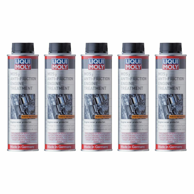set of 5 liqui moly mos2 anti friction engine treatment. Black Bedroom Furniture Sets. Home Design Ideas
