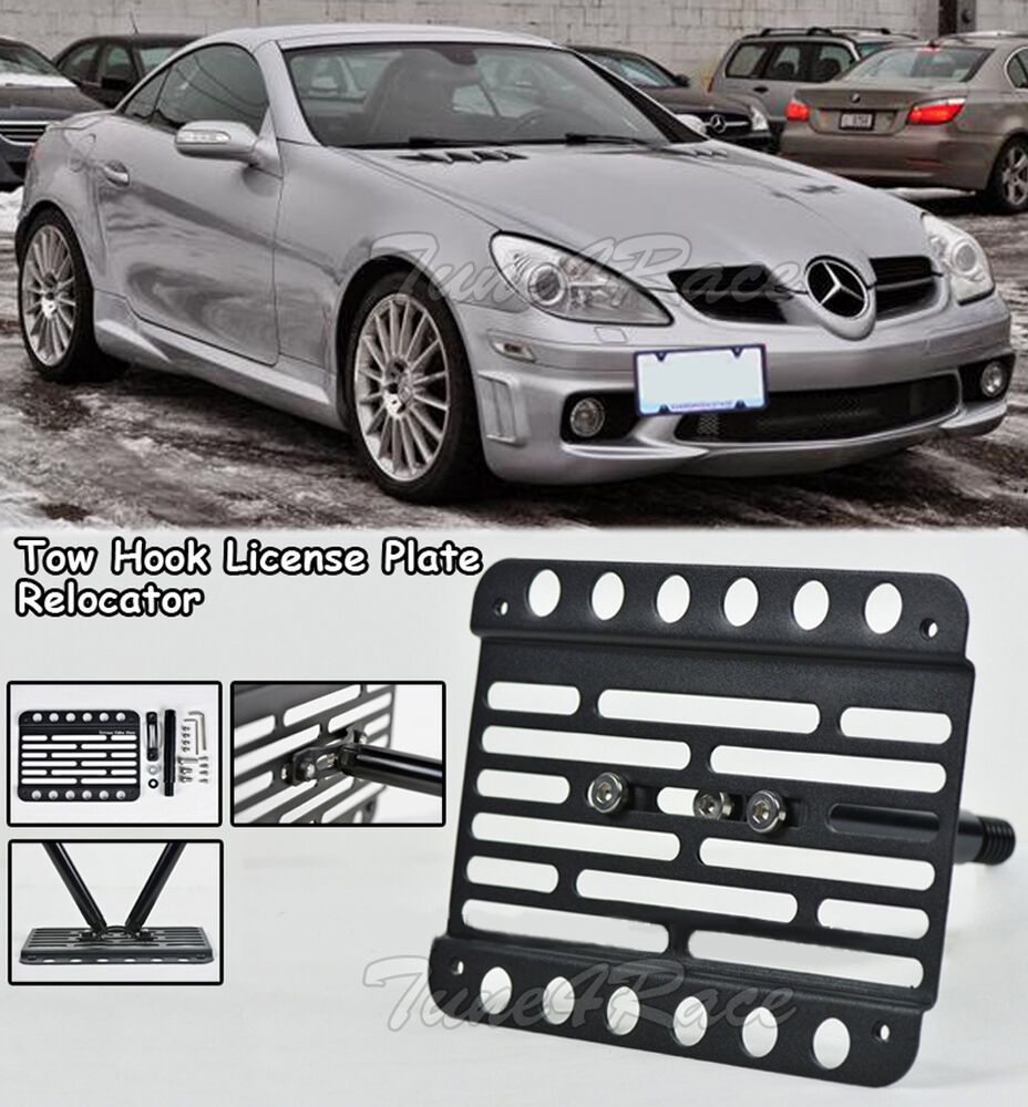 For 06 11 mercedes benz r171 front tow hook license plate for Mercedes benz slk accessories