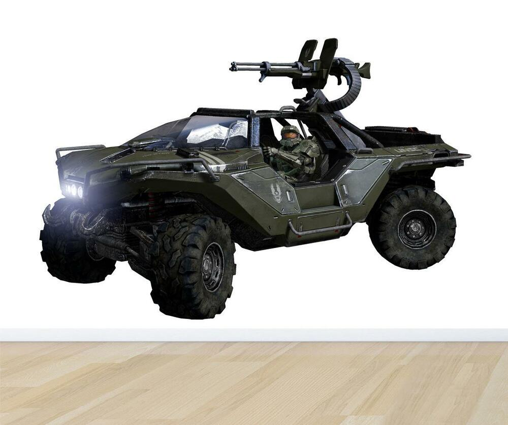 halo 4 warthog decal removable wall sticker home decor art huge halo 4 wetwork xxl wall sticker game 360 decor xbox