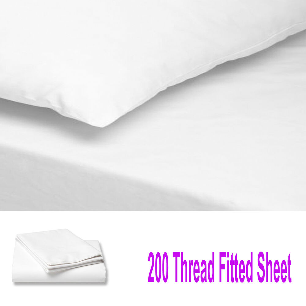 200 THREAD COUNT LUXURY 100% EGYPTIAN COTTON FITTED SHEET ...