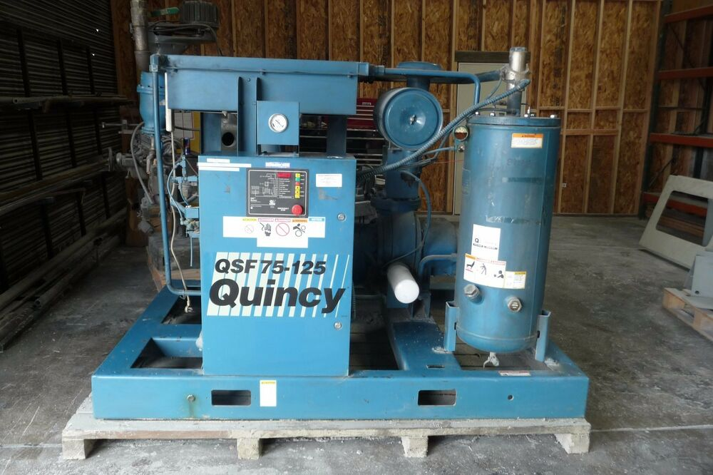 Air Dryer For Air Compressor >> QUINCY QSF 75-125 AIR COMPRESSOR | eBay