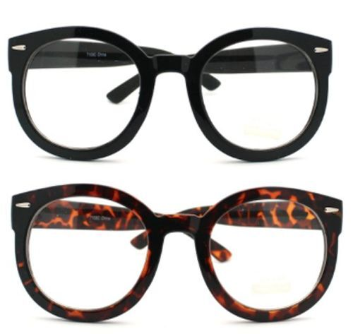 Black Glasses With Gold Rim At Top