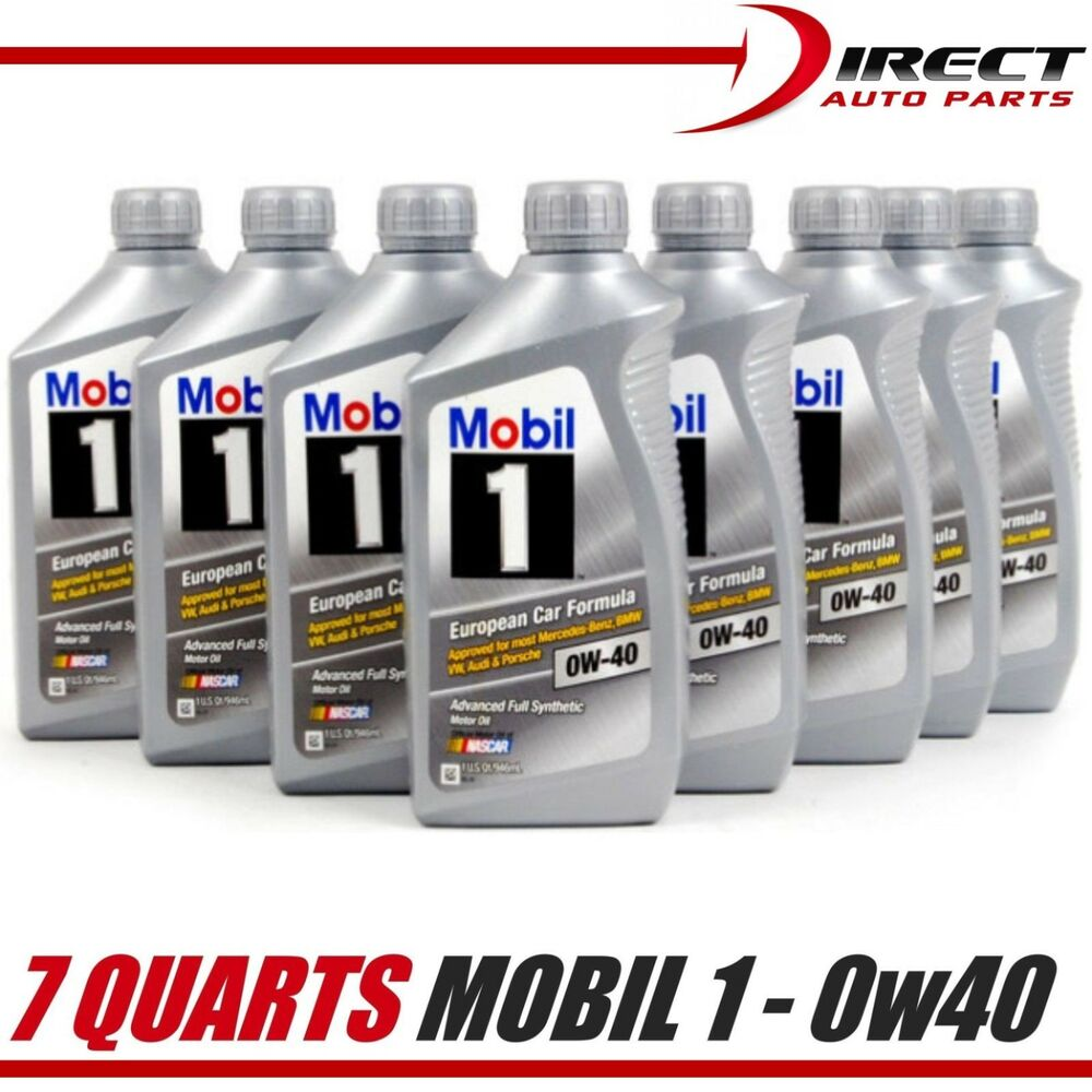 7 qts 0w40 mobil 1 fully synthetic motor oil 7 quarts. Black Bedroom Furniture Sets. Home Design Ideas