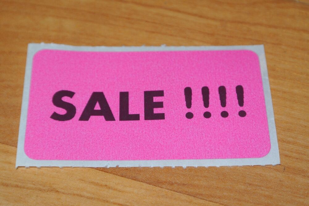 Store Tags: 200 PINK Self-Adhesive Sales Price Labels Stickers / Tags