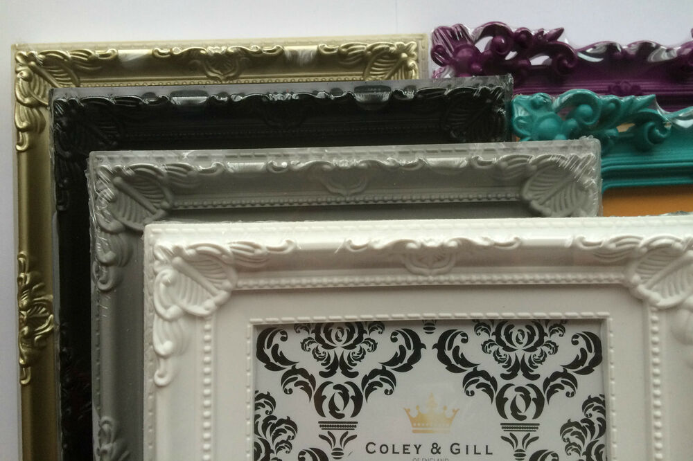 Photo frames ornate shabby chic vintage antique french for Baroque home accessories