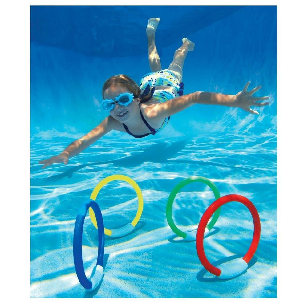 New Intex Underwater Childrens Kids Swimming Pool Dive Diving Rings Sticks Ebay