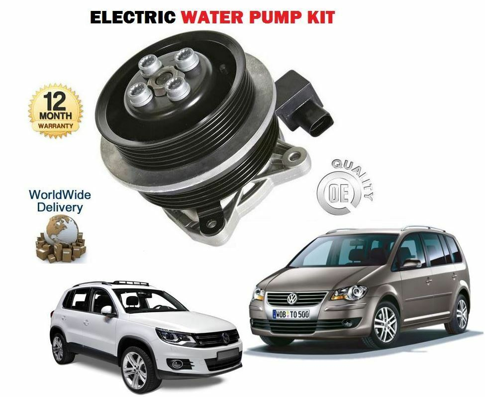 for volkswagen vw tiguan touran 1 4 tsi 1390cc 2006 new water pump kit ebay. Black Bedroom Furniture Sets. Home Design Ideas