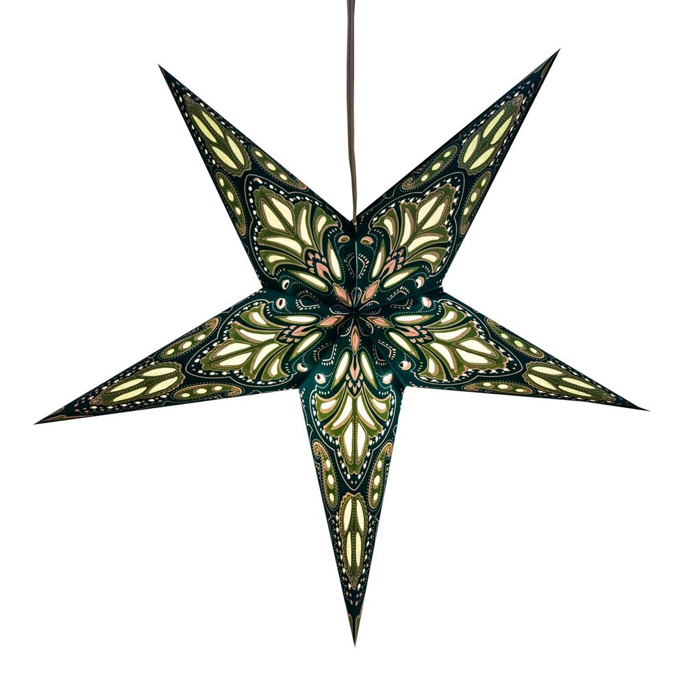 Lotus paper star light lamp lantern with 12 foot cord for Paper star lamp