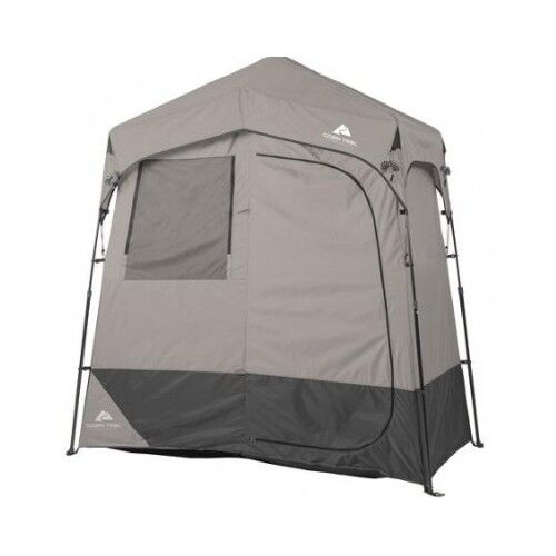 Solar heated shower tent portable camping outdoor changing for Heated gazebo