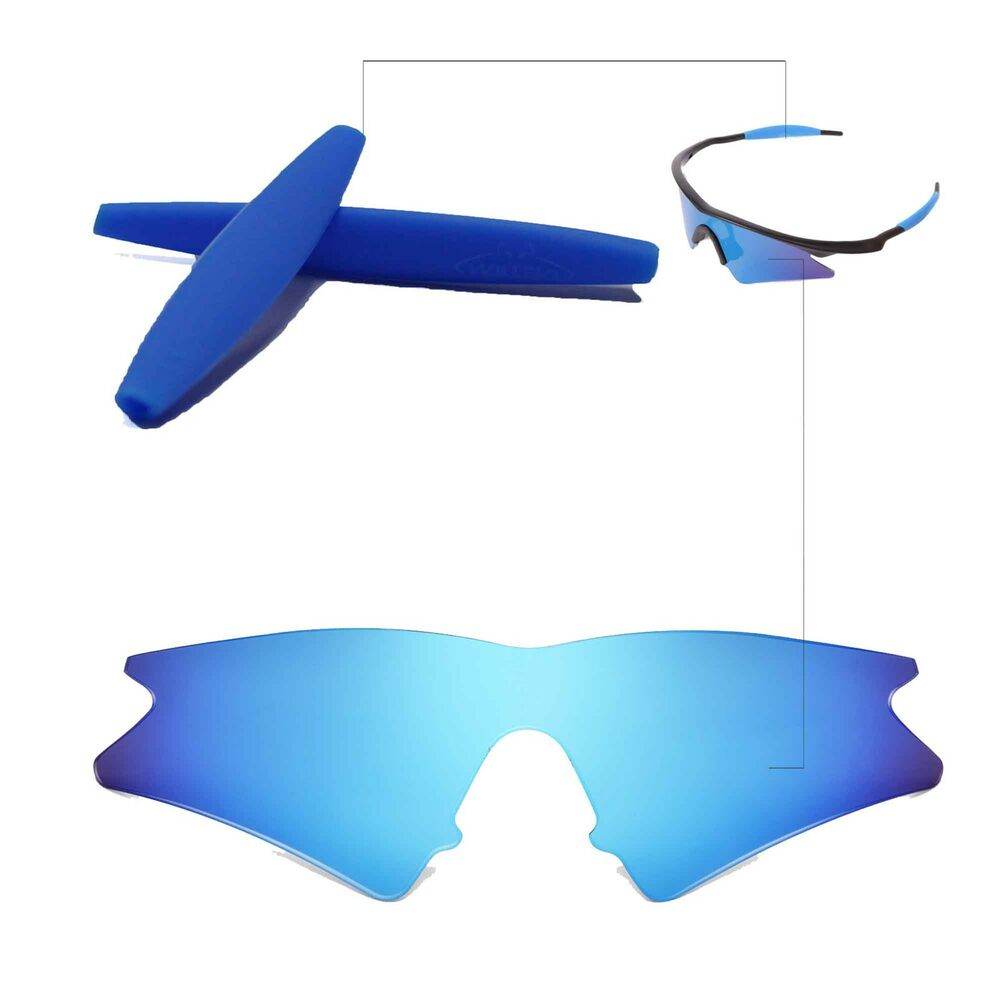 Walleva Ice Blue Replacement Lenses Earsocks For Oakley M
