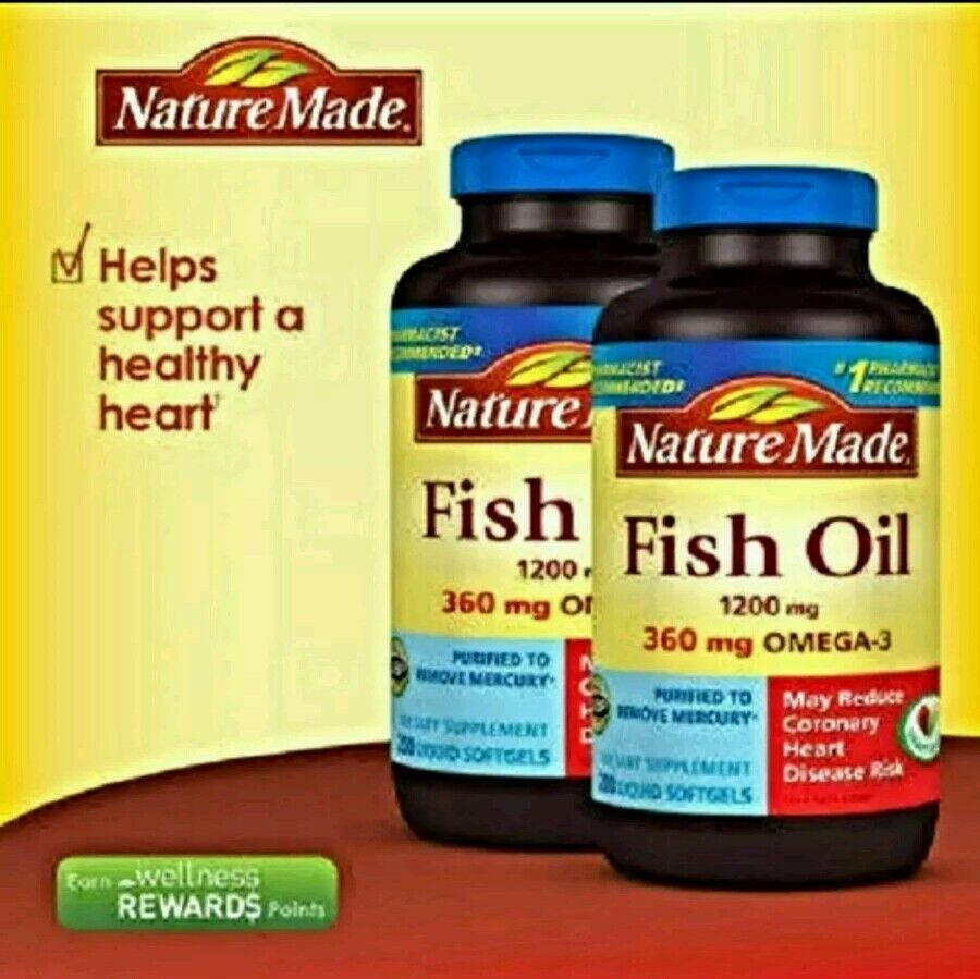 Nature made fish oil 1200 mg epa dha 360mg omega 3 for Oily fish list