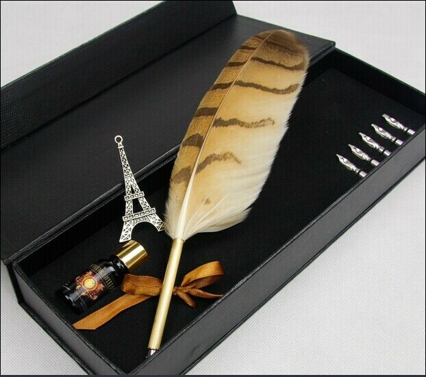 Owl-Feather-Quill-Harry-Potter-Hogwarts-QUILL-Pen-and-Ink ...Harry Potter Quill And Ink Set
