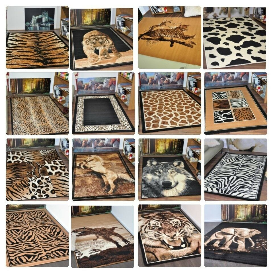 New Small Extra Large Modern Soft Animal Print Area Rugs