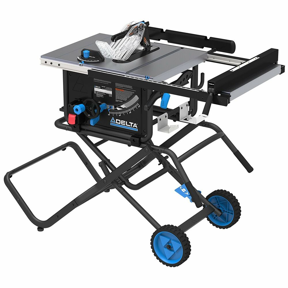 Delta 36 6020 10 Jobsite Portable Table Saw With Stand Wheel New Ebay